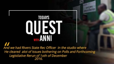 Recap on Todays Quest: Listen to Rivers State REC make Clarification on Dec 10 Rerun.