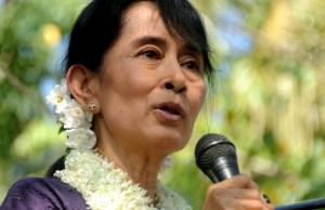 The main opposition leader in Myanmar, AUNG SAN SUU KYI, has won a seat in the parliamentary election, as her National League for Democracy cruises to a sweeping victory.