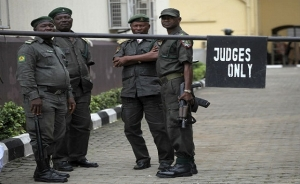 Security is on alert at the premises of the Federal High Court in Port Harcourt
